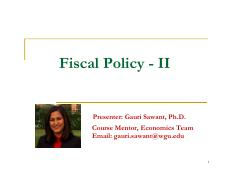 Microsoft PowerPoint - Fiscal Policy - II Slides [Compatibility Mode]