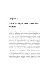 Chapter 5 - Consumers Surplus