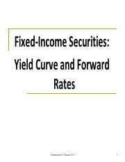 Lecture 18 Fixed Income Forward rates and yield curve-2