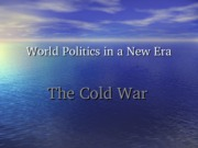 5 Chapter 04 Cold War water