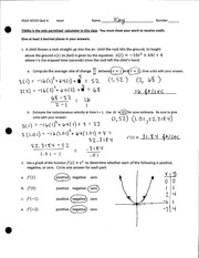 The Definite Integral Quizzes and Solutions