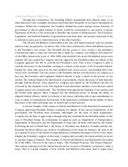 Essay on checks and balances