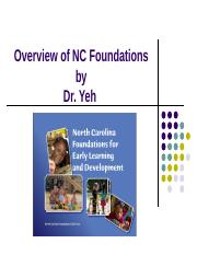 Overview of NC Foundations