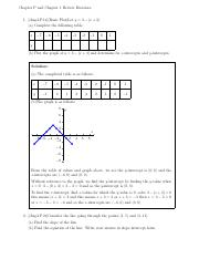 Chapter 1 Review Problems/Solutions