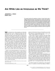 Are White Lies as Innocuous as We Think
