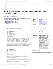 Flashcards - SEN632 Java Software Architecture Application - Exam Prep - Part One