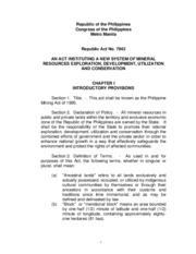 RA 7942 phil mining act of 1995