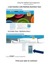MyPlate Tool Guidelines.docx