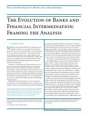 The Evolution of Banks