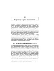 Chapter 10 Regulatory Capital Requirements