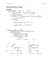 p431summary-ch18-thermalpropertiesofmatter