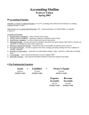 Yablon Sp03 Accounting Outline