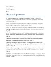 10 questions chapter 5
