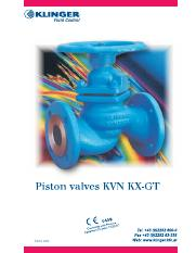 Valvulas Piston KVN Catalogo Ingles