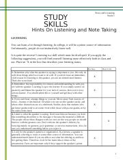 Hints on Listening and Note Taking.doc