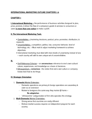 International Marketing Chapters 1-6