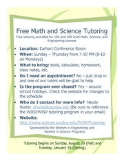2010 wiep wisp tutoring program flyer