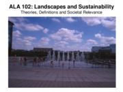 Lecture Theories and Definitions for Landscapes and Sustainability