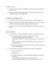 Socialization Process (ch. 7) Notes