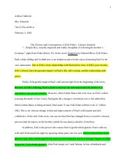 The Choices and Consequences of Erik Fisher - Literary Analysis .docx
