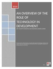 Role of Technology in Development.doc