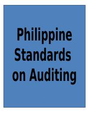 Philippine Standards on Auditing