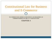 Chapter 4 - Constitutional Law for Business and E-Commerce