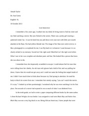 English Narrative Paper