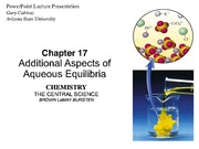 Brown LeMay Chapter 17 Additional Aspects of Aqueous Equilibria BbVF(1)