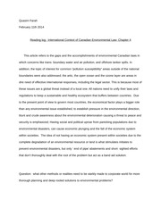 International Context of Canadian Environmental Law- Chapter 4