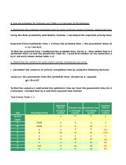Task 4 - PERT/CPM Analysis Task Detail Table 1 1 A 1 Task