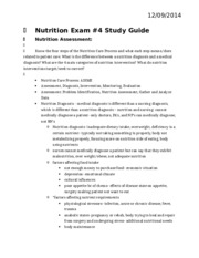 Nutrition Exam 4 study guide