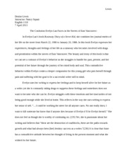 Essay Draft of Runaway Diary of a Street Kid