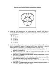 Math 121 - Sets and Venn Diagrams Practice Problems