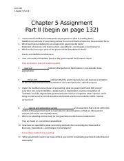 Chapter 5 Assignment Part II