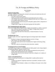 Government Ch 20 Notes