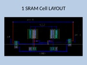 1 SRAM Cell LAYOUT