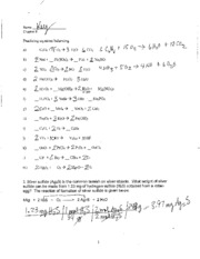 Reaction Types & Stoichiometry (Ch. 8) - Practice Worksheet