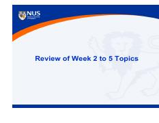 Review of Week2-5 topics (1)