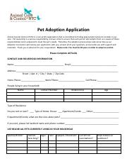 AdoptionApplication