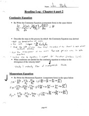 Continuity Equation Notes