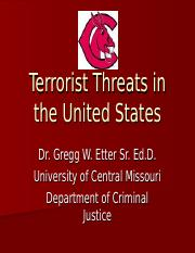 Terrorist Threats in the United States