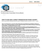 How To Deliver A Great Presentation From A Script | Mr. Media Training.pdf