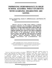 Improving Performance in High School Algebra What Students with Disabilities Are Saying.docx