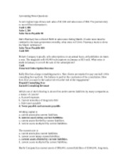 Accounting Notes Questions(8)