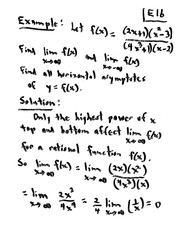 MATH 10101 Fall 2008 Limits Class Examples