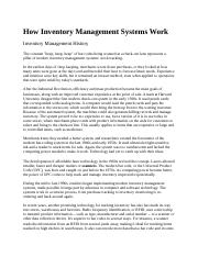How Inventory Management Systems Work
