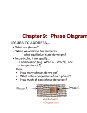 Chapter 9- Phase Diagrams