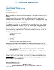 M1-4 Decision Making - Analyze Sales Trends(1).docx