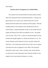6 Pages Global Issues Essay 1
